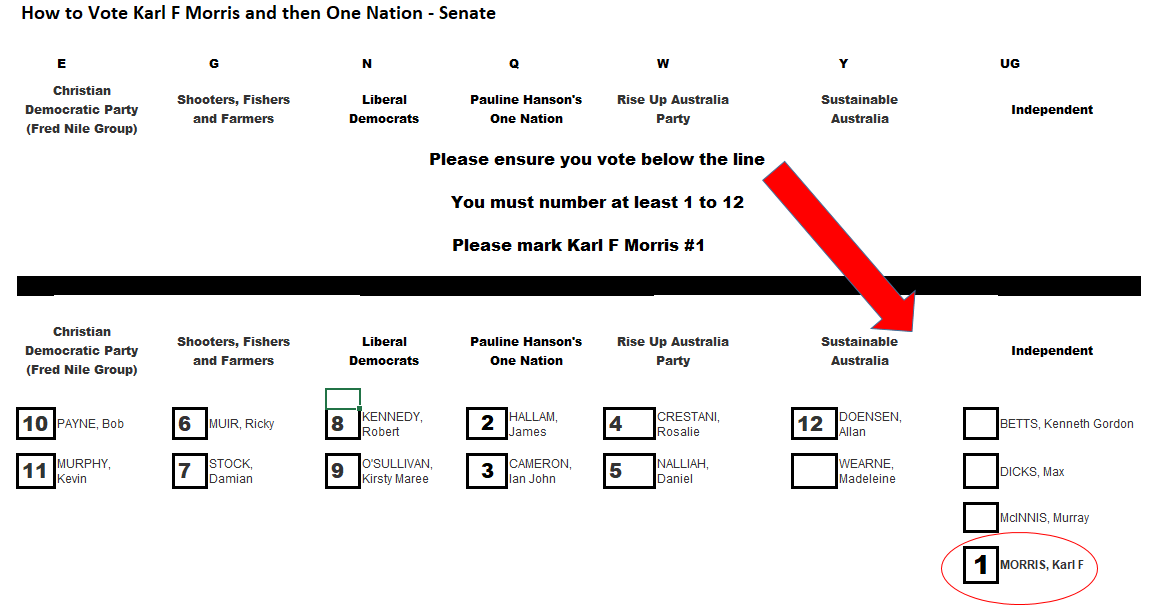 How To Vote Karl Then One Nation